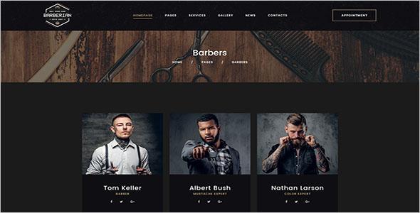 Professional Barber Shop & Hair Salons PSD Template