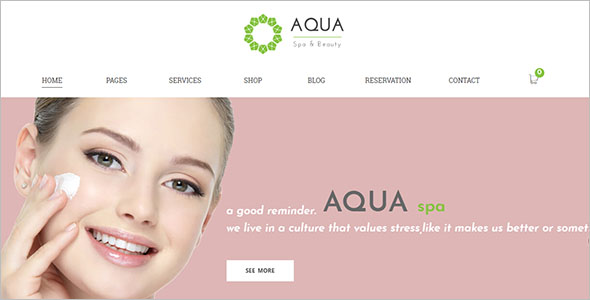 Spa-Beauty Responsive Commerce Drupal Theme
