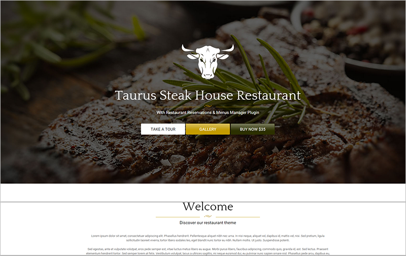 2014 Restaurant WordPress Theme