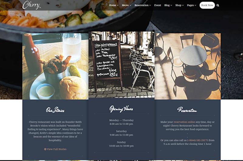 2015 WordPress Restaurant Theme