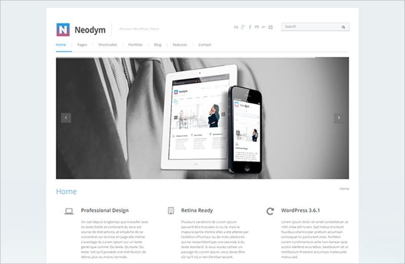 Beautifully Designed Built-In Custom Widgets WordPress Business Theme