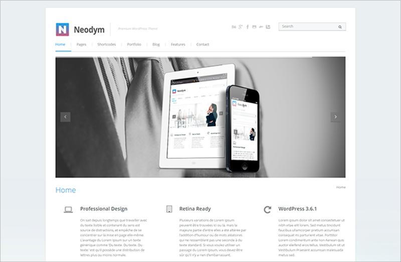 Beautifully Designed Built-In Custom Widgets WordPress Business Theme