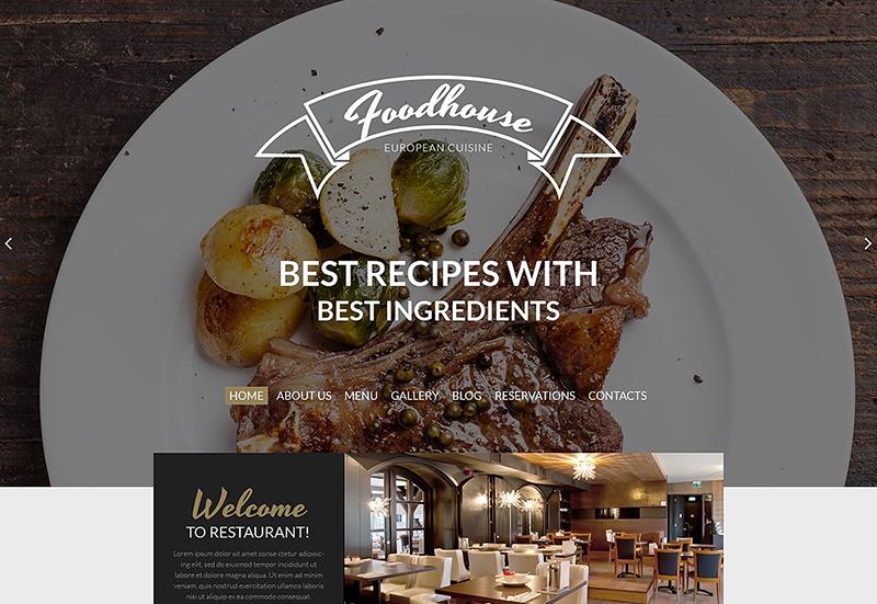 Best Restaurant WordPress Template