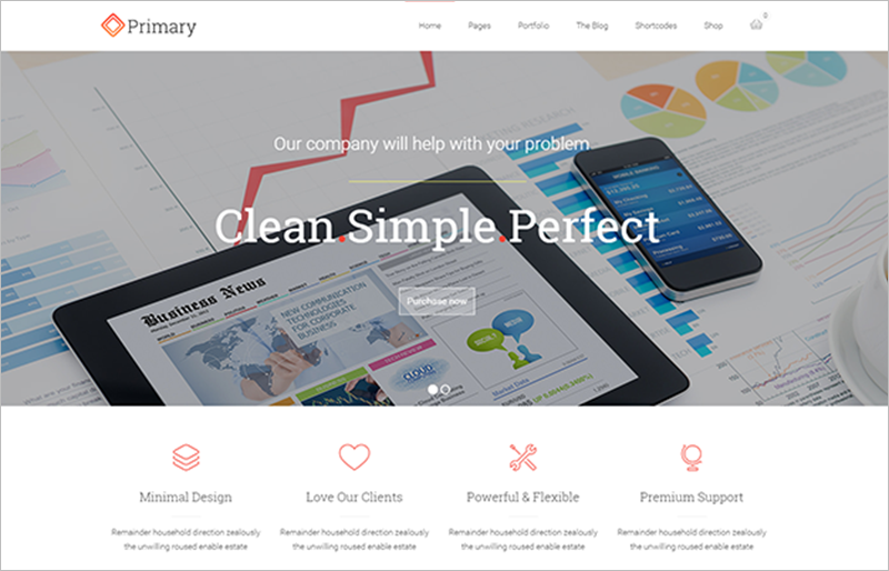 Business WordPress Theme With Visual Composer