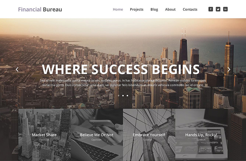 Financial Business Responsive WordPress Template