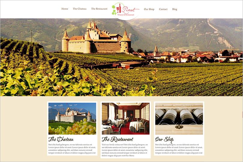 Full Screen Restaurant WordPress Theme