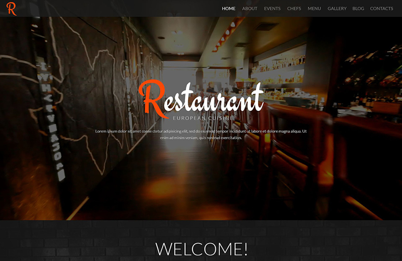 Fully Customizable WordPress Restaurant Template