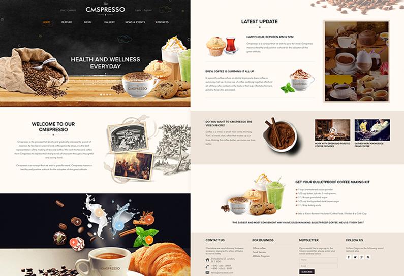 Fully Responsive WordPress Theme For Cafe & Restaurant
