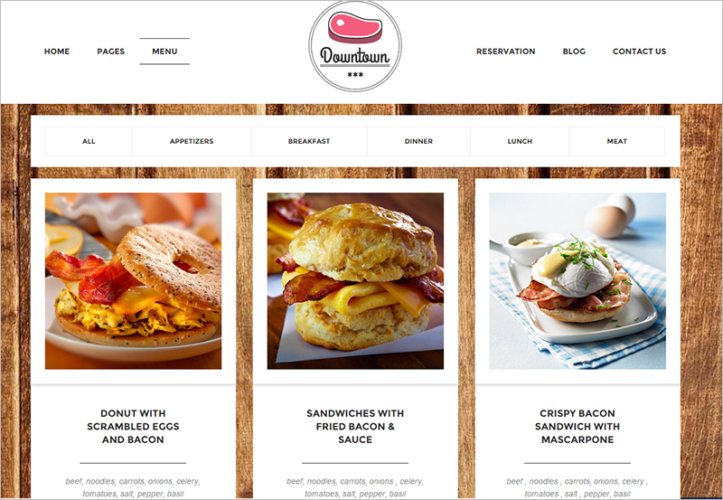 Latest Restaurant WordPress Theme