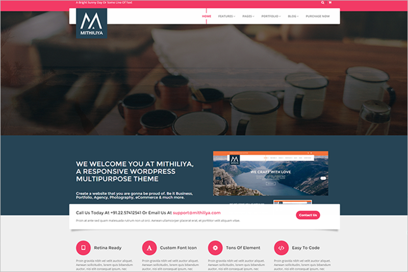 MultiPurpose Business WordPress Theme 2015