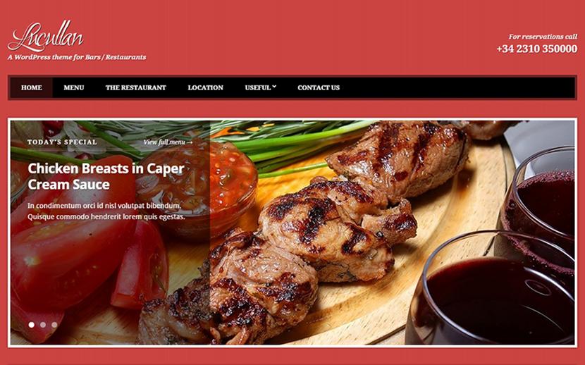 Premium Restaurant WordPress Template