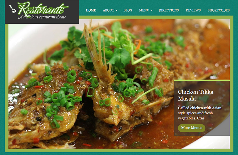 Professional Restaurant WordPress Theme