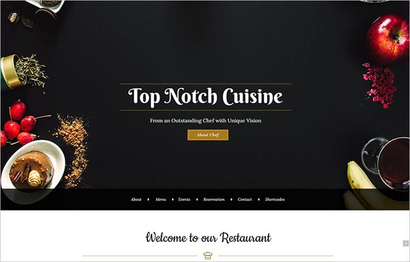 Restaurant Design Wordpress Theme : Restaurant wordpress themes free premium templates
