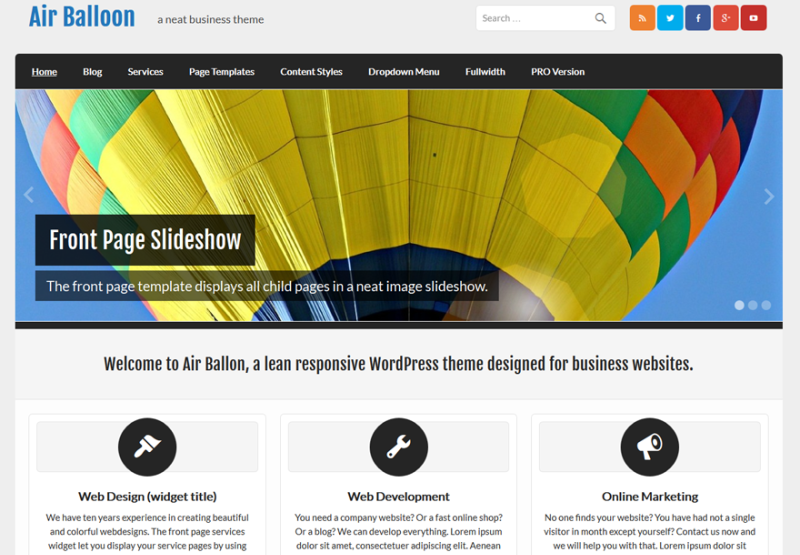 WordPress Business Theme WIth Custom Colors