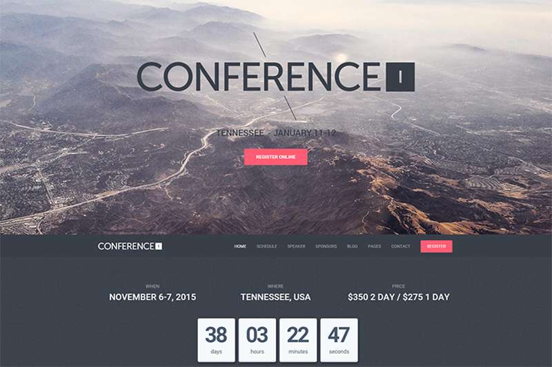 WordPress Business Theme With Conference