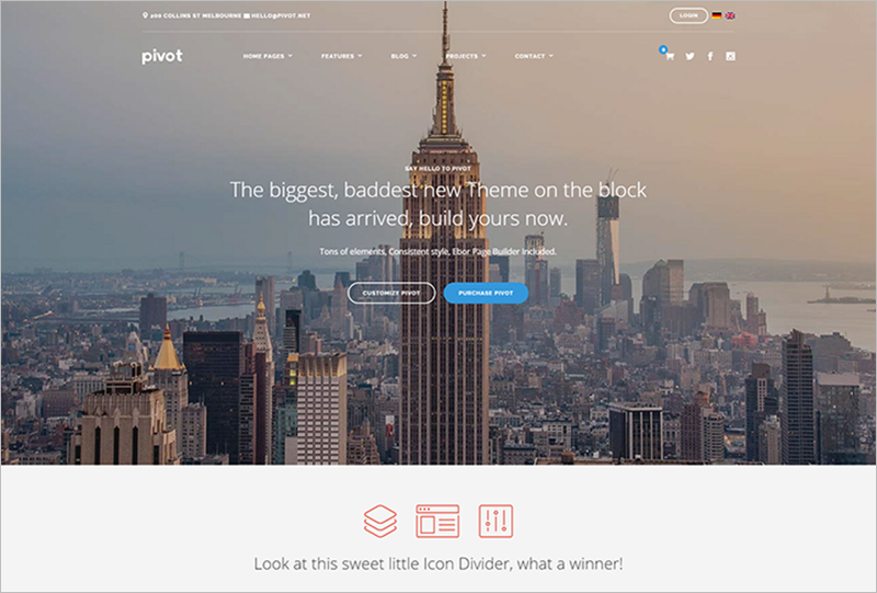 WordPress Business Theme With Custom Image Cropping