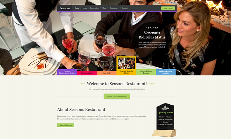 WordPress Restaurant Theme With Menu Management