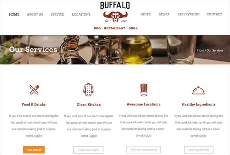 WordPress Theme With Restaurant Reservation