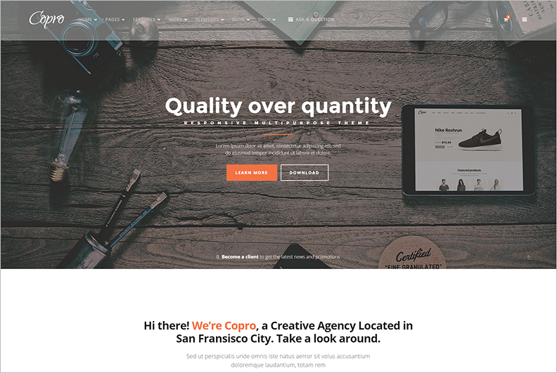 2015 Multipurpose WordPress Theme