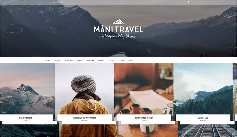 2015 Responsoive Travel WordPress Theme