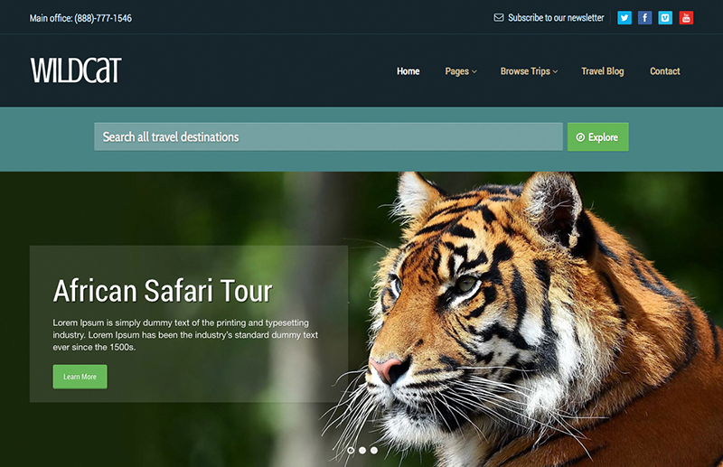 2015 Travel & Booking Template