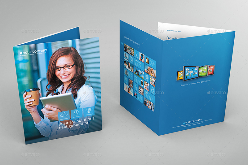 6 Page Metro Tri-Fold Brochure Template