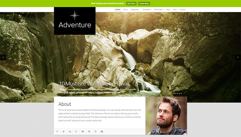 Adventure Travel Theme