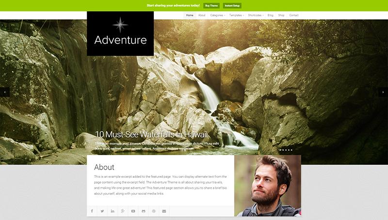 Adventure Travel Theme