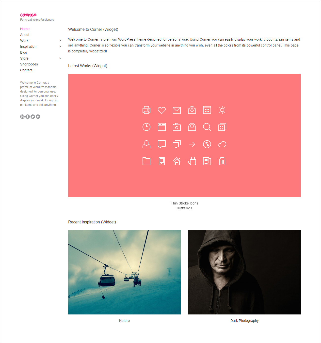All-in-One WordPress Theme for Creative Professionals