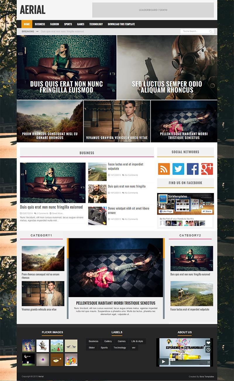 Beautiful Blogger Website Template Free