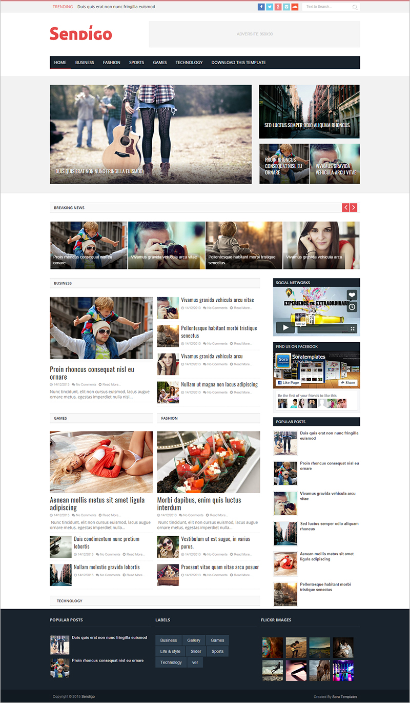 Best Free Magazine Blog Website Template
