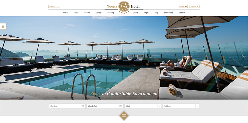 Best Hotel & Resort WordPress Template