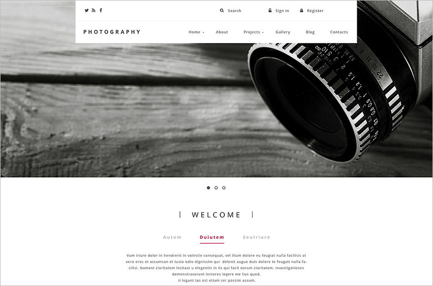 Best Photography Website Template