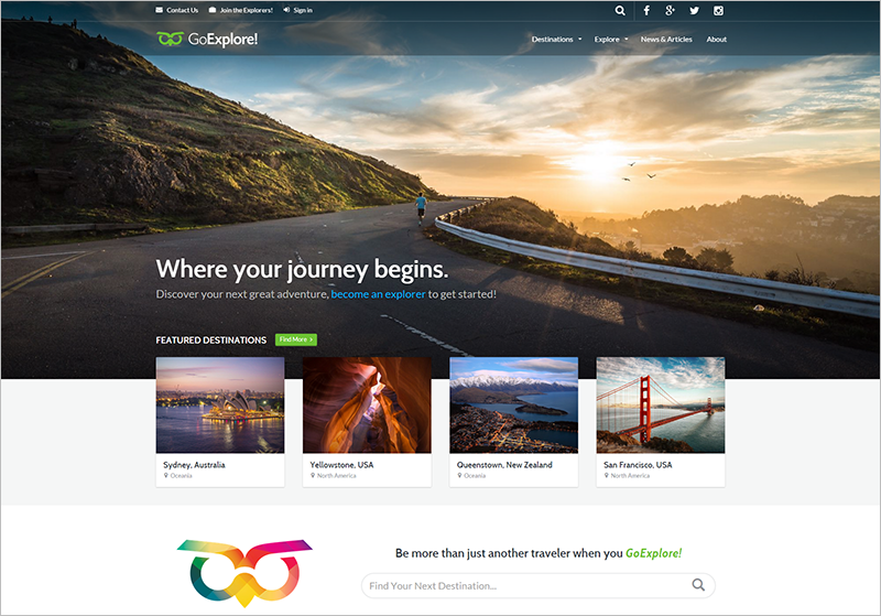 Best Rated WordPress Travel Template