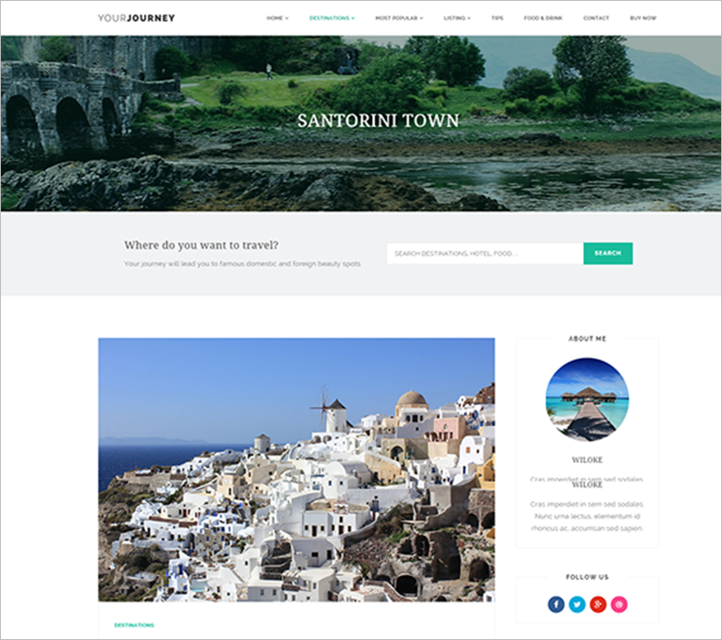 Best Responsive Travel WordPress Theme