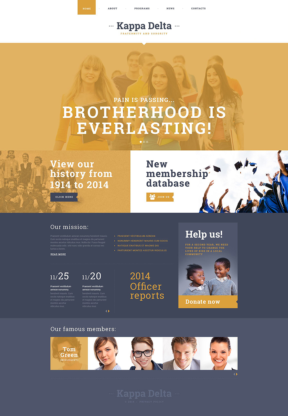 Bootstrap Responsive HTML5 University Website Template
