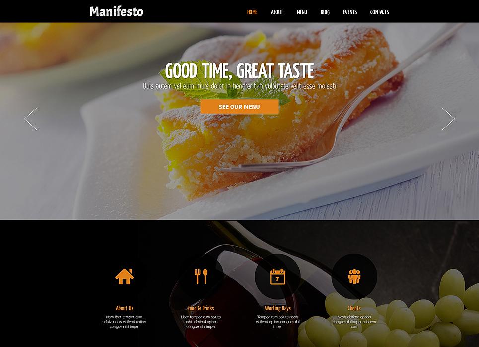 Cafe Website Template Joomla