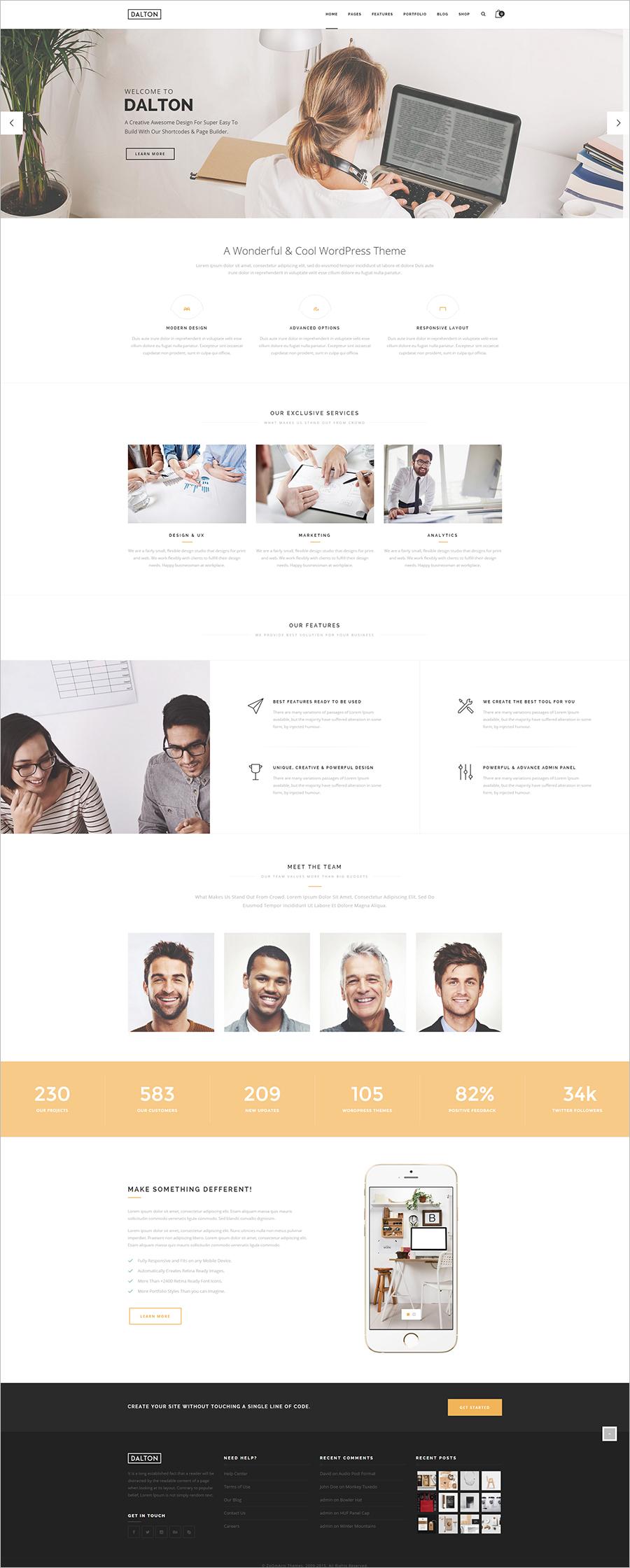 Clean & Modern Multi-Purpose WordPress Theme