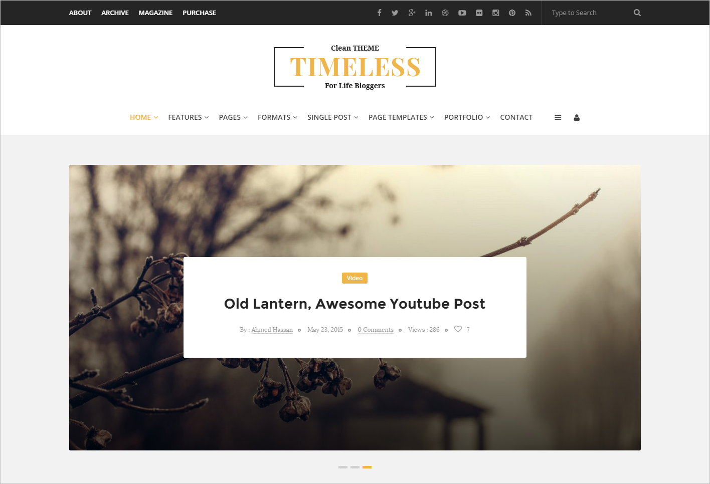 Clean Personal WordPress Blog Theme