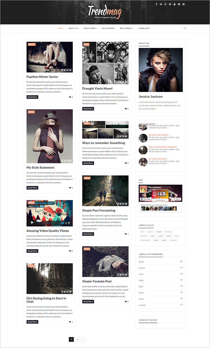 Clean & Responsive Blogger Template