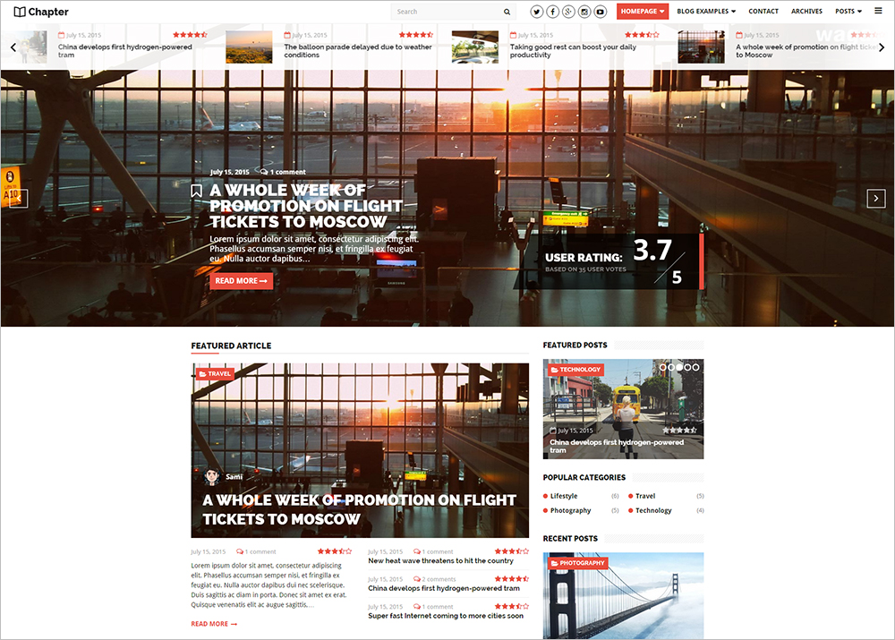 Clean & Responsive WordPress Theme for Magazine