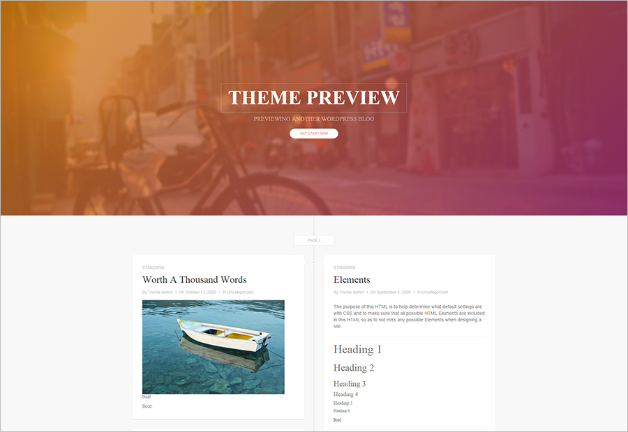 Clean Timeline WordPress Theme for Free Download