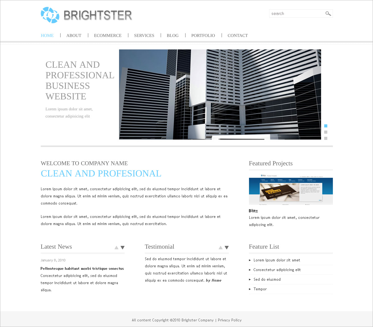 Clean Website Template for Business