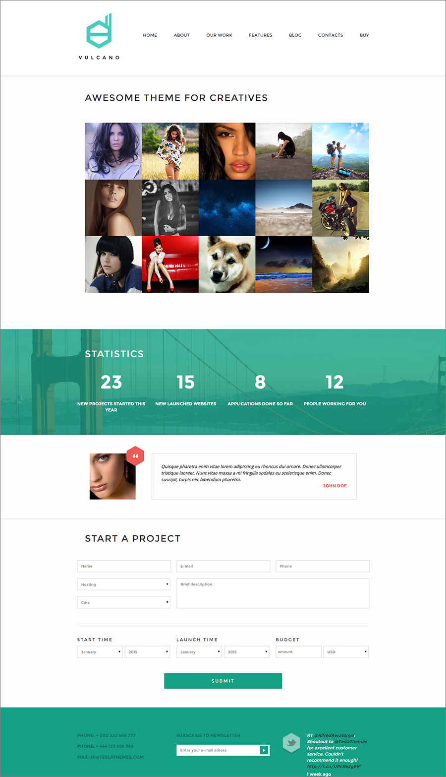 Creative Agency & Photography Wp Website Template