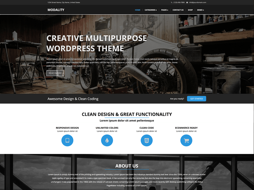 Creative Multi Purpose WordPress Theme