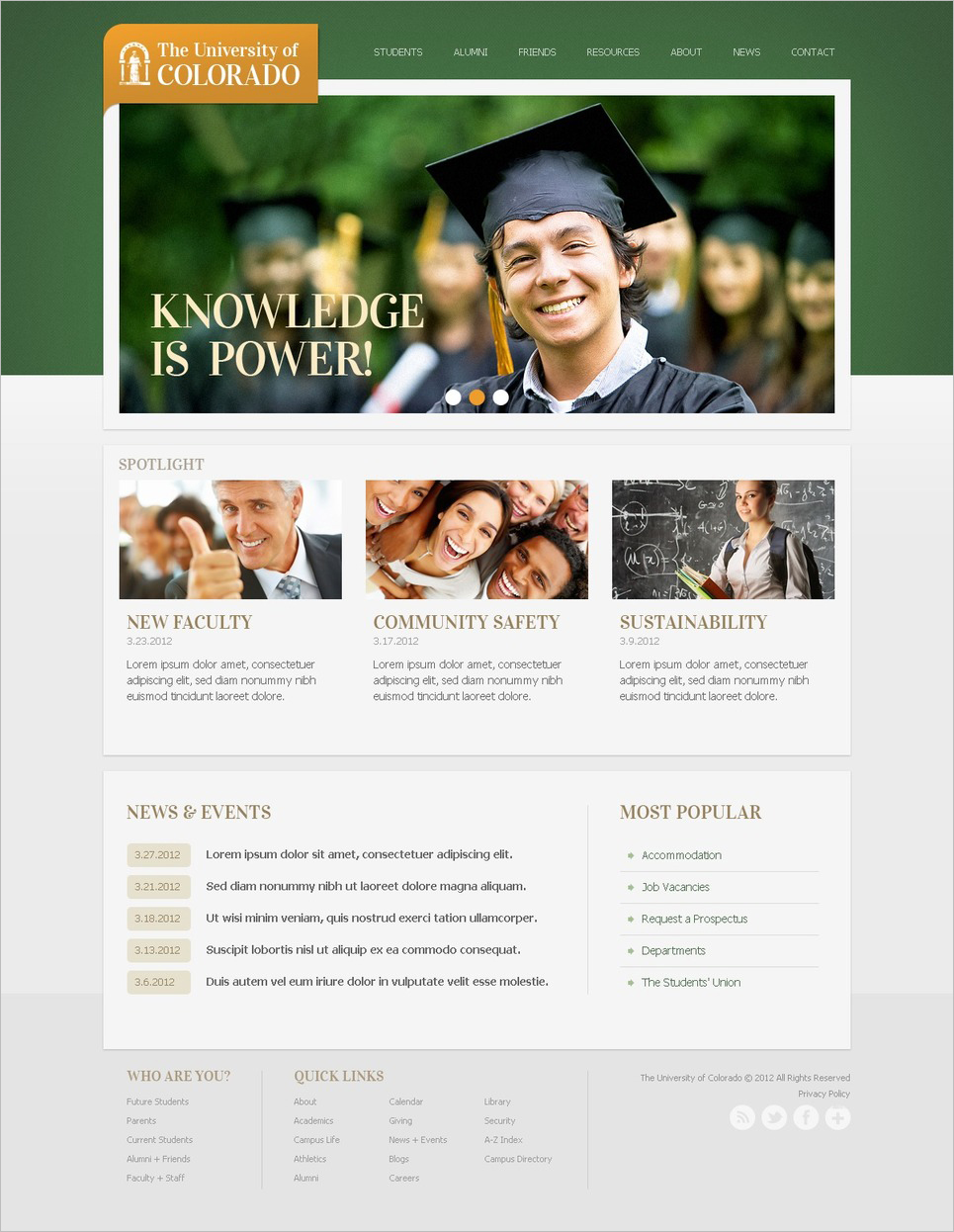 Drupal Education Website Template