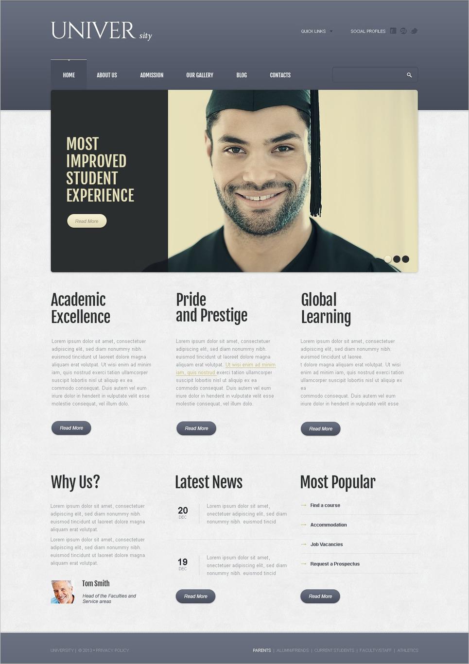 Drupal Responsive Website Template for University