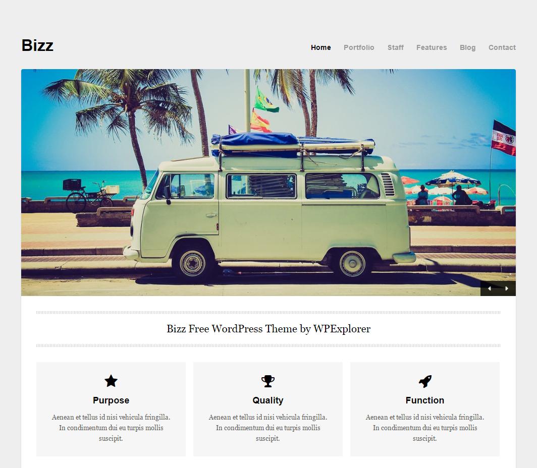 Free Business & Portfolio WordPress Theme