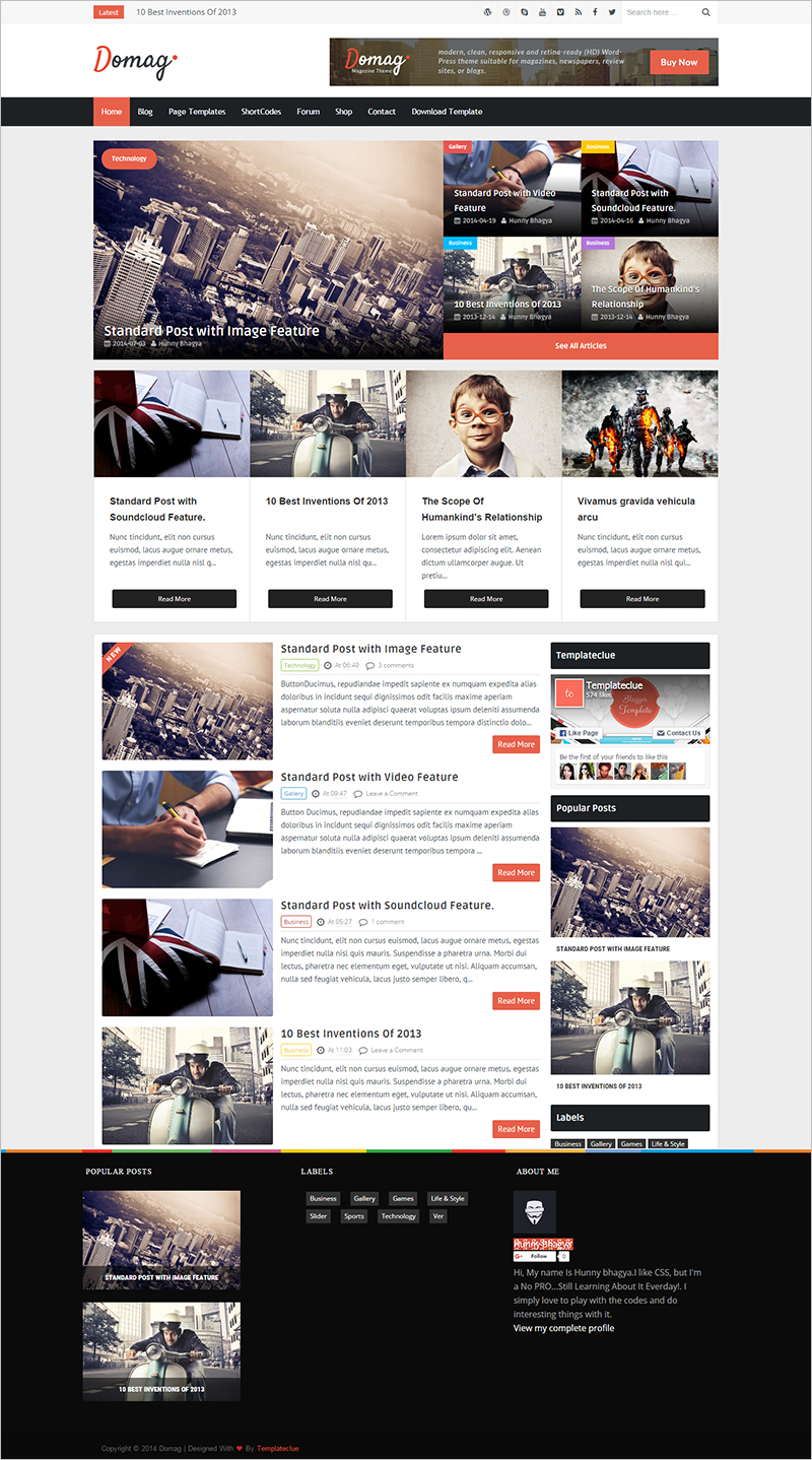 Free Elegant And Responsive Blogger Template