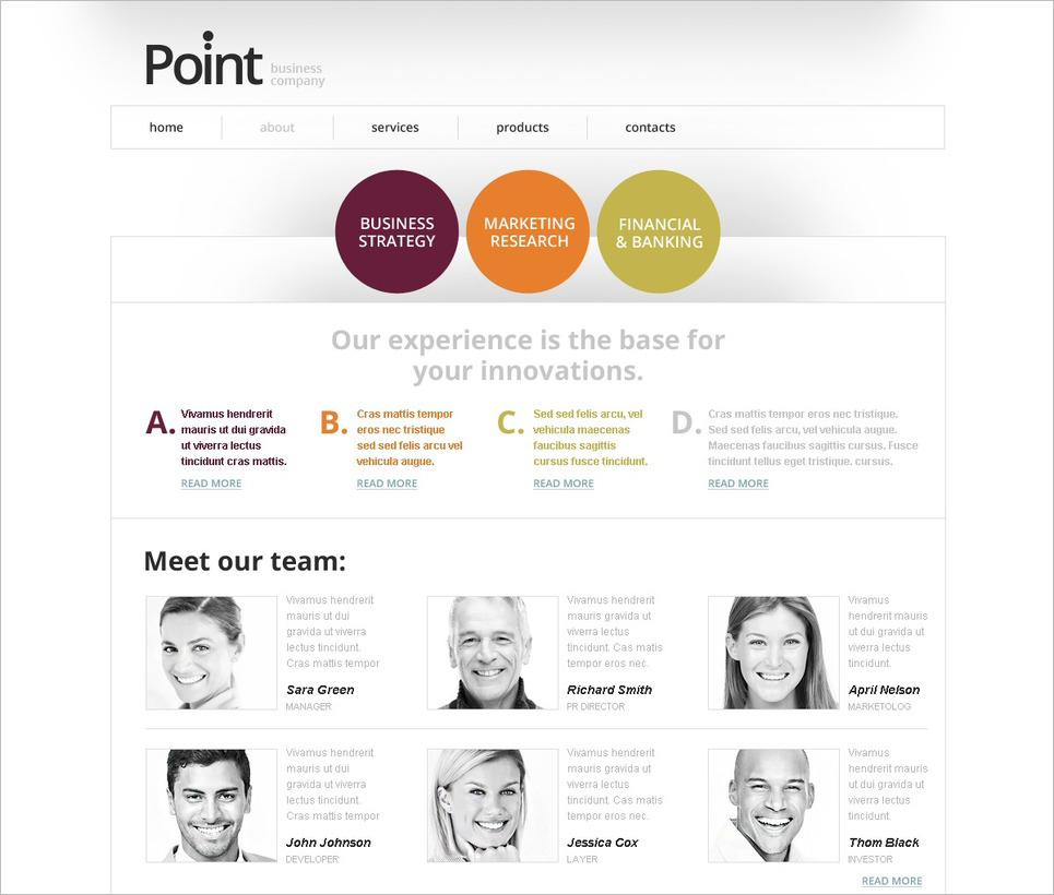 Free HTML5 Website Template for Business